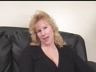 Bbw milf on her casting gets two black dicks