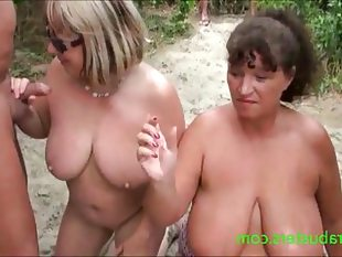 Granny kims beach cum party