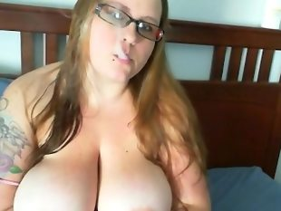 I adore her huge tits and hot smokey mouth